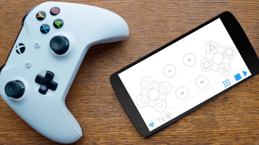 turn android phone into game controller